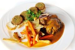 Ossobuco με το falafel Στοκ Φωτογραφίες