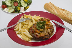 Ossobuco alla milanese. Is a traditional stew from Italy Royalty Free Stock Photos