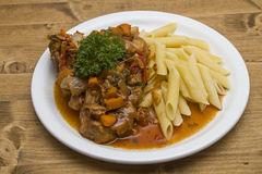 Ossobuco alla milanese Royalty Free Stock Images