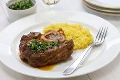 Ossobuco alla milanese, włoska kuchnia Obraz Royalty Free