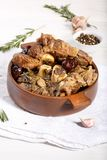 Ossobuco. Braised cross-cut beef shanks royalty free stock photography