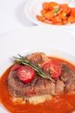 Ossobuco cuit de jambe de veau Image stock