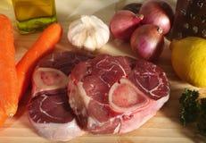 Ossobuco ingredients horizontal stock image