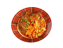 Ossobuco. Italiano country cuisine .Milanese specialty of cross-cut veal shanks braised with vegetables Stock Photography