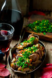 Ossobuco Milanese.style rustic. Stock Images