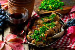 Ossobuco Milanese.style rustic. Selective focus Royalty Free Stock Images