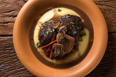 Ossobuco with polenta. Gourmet food Stock Photography