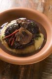 Ossobuco with polenta. Gourmet food Royalty Free Stock Image