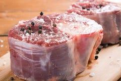 Beef shanks Ossobuco. royalty free stock photography