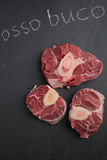 Ossobuco veal shanks. Three cuts of Ossobuco veal shanks Stock Photography