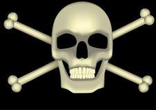 Ossos do crânio e da cruz Imagem de Stock