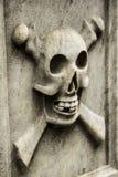 Ossos do crânio e da cruz Fotos de Stock