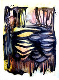 Ossos e fundo abstratos ilustração royalty free