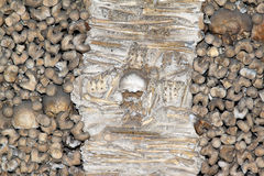ossos portugal för capela DOS evora arkivfoton