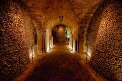 Ossuaire de Brno dans le cachot de St James Chuch Photos libres de droits