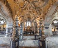 Ossuaire de la Slovaquie Sedlec Photo libre de droits
