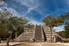 ¡ N Chichen Itza Ossuary пирамидки Стоковые Фото