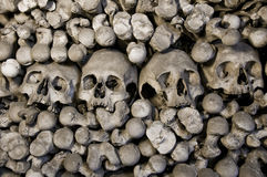 The ossuary. A picture of Human skulls and bones. The Ossuary in Sedlec, Kutna Hora, Czech Republic Stock Photo