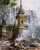 The ossuary at a Buddhist monastery Royalty Free Stock Photo