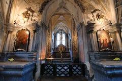 Ossuary de Eslováquia Sedlec Fotos de Stock