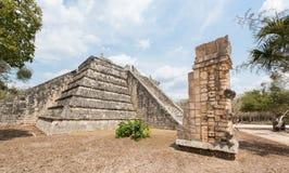 Ossuary, Majskie ruiny, Chichen Itza, Jukatan, Meksyk fotografia stock