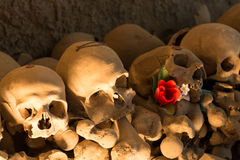Ossuary in Naples. In which are buried victims of plague and cholera Royalty Free Stock Image
