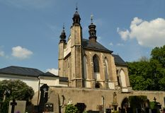Ossuary Sedlec Cemetery Church of All Saints in Kutna Hora, Czech Republic Stock Image