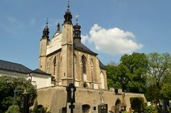 Ossuary Sedlec Cemetery Church of All Saints in Kutna Hora, Czech Republic Stock Photography