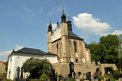 Ossuary Sedlec Cemetery Church of All Saints in Kutna Hora, Czech Republic Stock Photos
