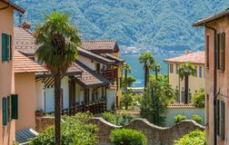 Scenic sight in Ossuccio, small and beautiful village overlooking Lake Como, Lombardy Italy. Ossuccio is a comune in the Province of Como in the Italian region royalty free stock images