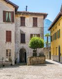Scenic sight in Ossuccio, small and beautiful village overlooking Lake Como, Lombardy Italy. Ossuccio is a comune in the Province of Como in the Italian region stock images