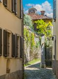 Scenic sight in Ossuccio, small and beautiful village overlooking Lake Como, Lombardy Italy. Ossuccio is a comune in the Province of Como in the Italian region stock photos