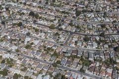 Ost-Antenne Sans Francisco Bay Middle Class Nieghborhood Lizenzfreie Stockfotos