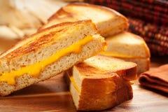 ost grillad smörgås Arkivfoto