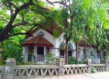 Ost-Indien-Bungalow stockbilder