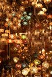 Ost-magische Lichter und Lampen der Türkei stockbild
