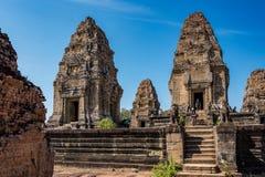 Ost-Mebon-Tempel im Angkor Wat Komplex in Siem Reap, Kambodscha lizenzfreies stockbild