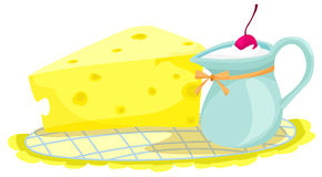 ost mjölkar vektor illustrationer