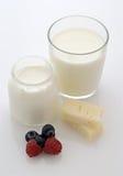 ost mjölkar yoghurt Royaltyfria Bilder
