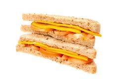 Ost- och tomatsmörgås Arkivbild