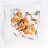 ost stekte sesamsticks Fotografering för Bildbyråer
