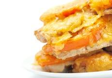 ost stekte tomater för meatlökinsats Arkivbild