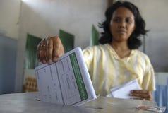 OSTACOLO DI DEMOCRAZIA DELL'INDONESIA Fotografia Stock