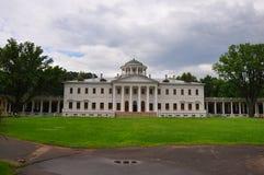 Ostafievo庄园的在波多利斯克区,莫斯科地区,俄罗斯主要房子 免版税库存照片