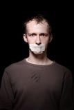 Ostaggio sul nero Fotografie Stock Libere da Diritti
