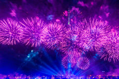 Ostankino Άνοιγμα του διεθνούς φεστιβάλ ο κύκλος του φωτός Στοκ φωτογραφία με δικαίωμα ελεύθερης χρήσης