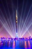 Ostankino Abertura do festival internacional o círculo da luz Imagens de Stock