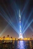 Ostankino Abertura do festival internacional o círculo da luz Imagem de Stock Royalty Free