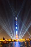 Ostankino Abertura do festival internacional o círculo da luz Foto de Stock Royalty Free