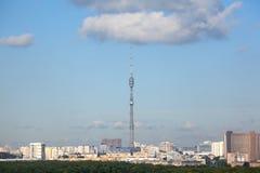 Ostankino Kontrollturm in Moskau stockfoto